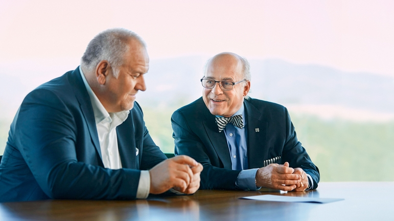 Matthias Altendorf and Klaus Endress.